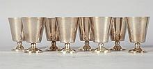 Georg Jensen Sterling Silver Stemmed Shot Glasses