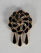 Victorian Style Gold Brooch