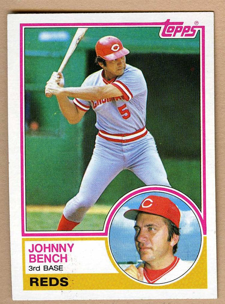 1983 Topps 60 Johnny Bench Baseball Card