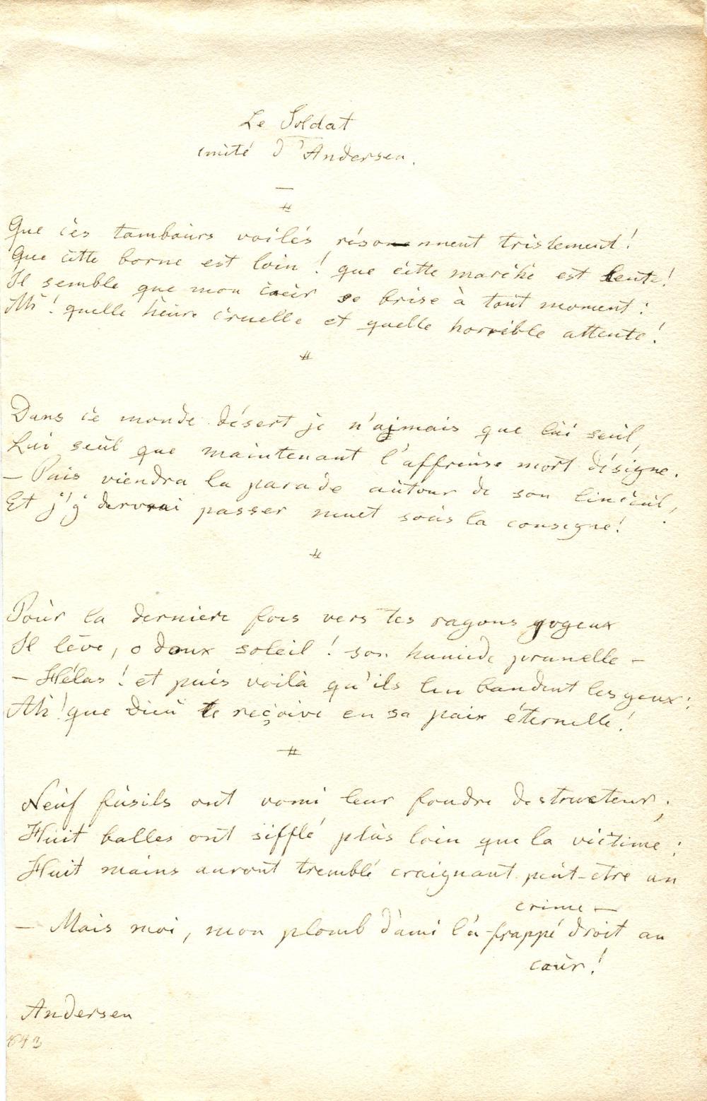 ANDERSEN HANS CHRISTIAN: (1805-1875)