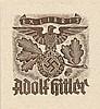 [HITLER ADOLF]: (1889-1945) Fuhrer of the Third Reich 1934-45. An Adolf Hitler's original personal u, Adolf Hitler, €100