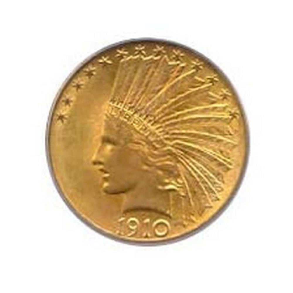 Early Gold Bullion $10 Indian Uncirculated #IRS95036
