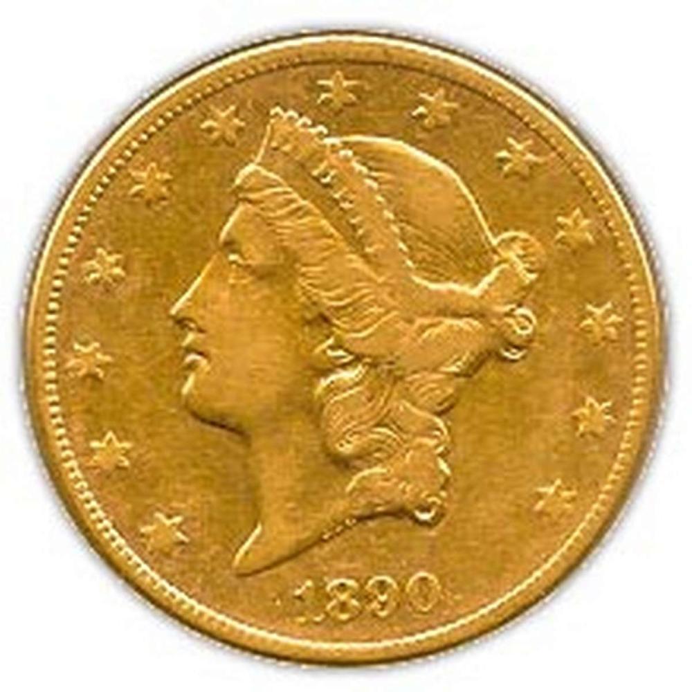 Early Gold Bullion $20 Liberty Extra Fine #IRS95028