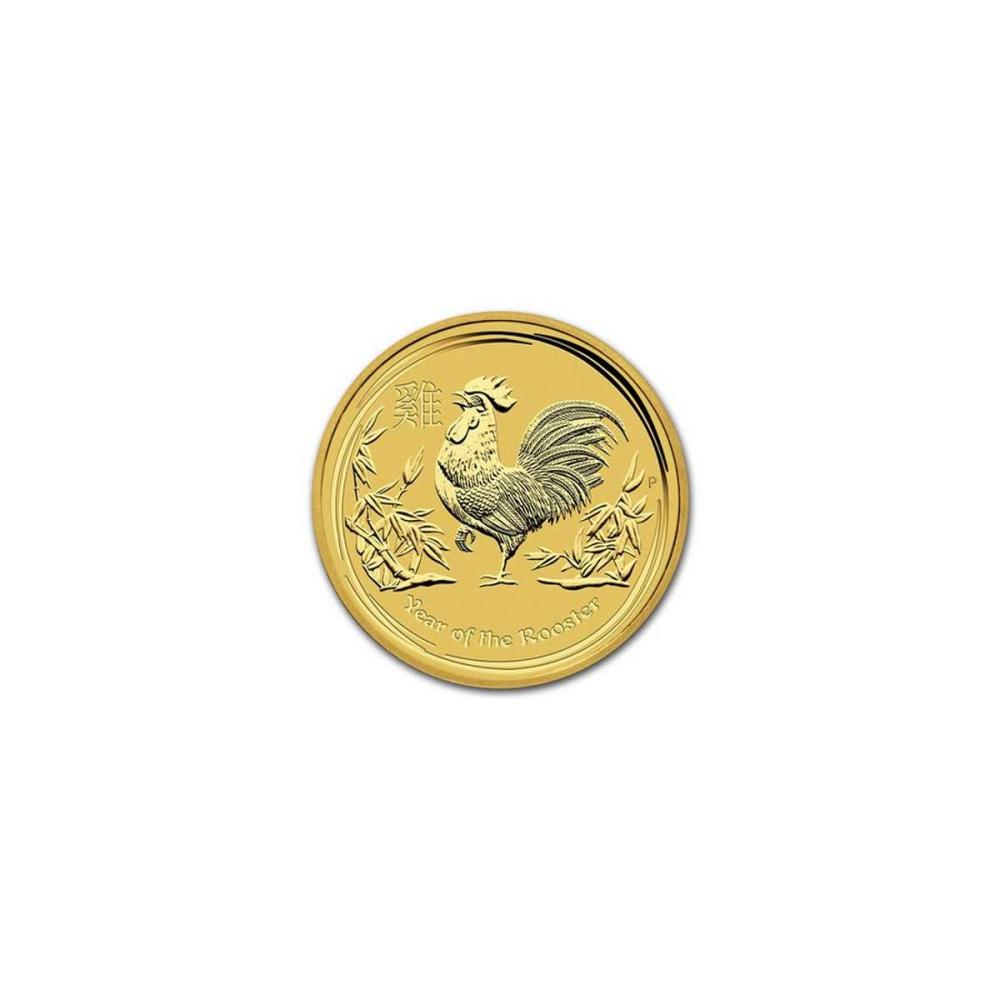 Australian Perth Mint Series II Lunar Gold One-Twentieth Ounce 2017 Rooster #IRS95847