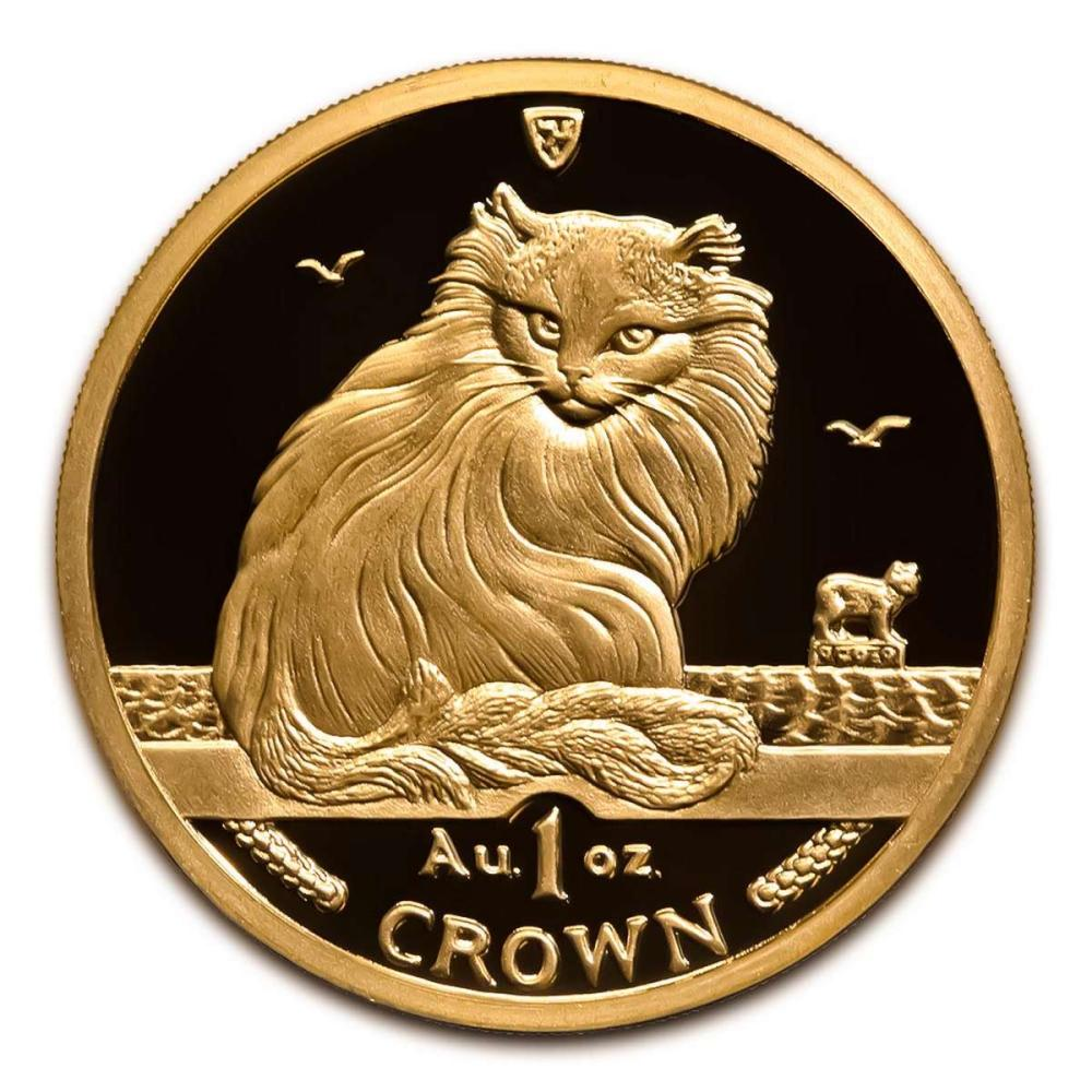 Isle of Man Gold Cat 1 Ounce 1995 #IRS95899