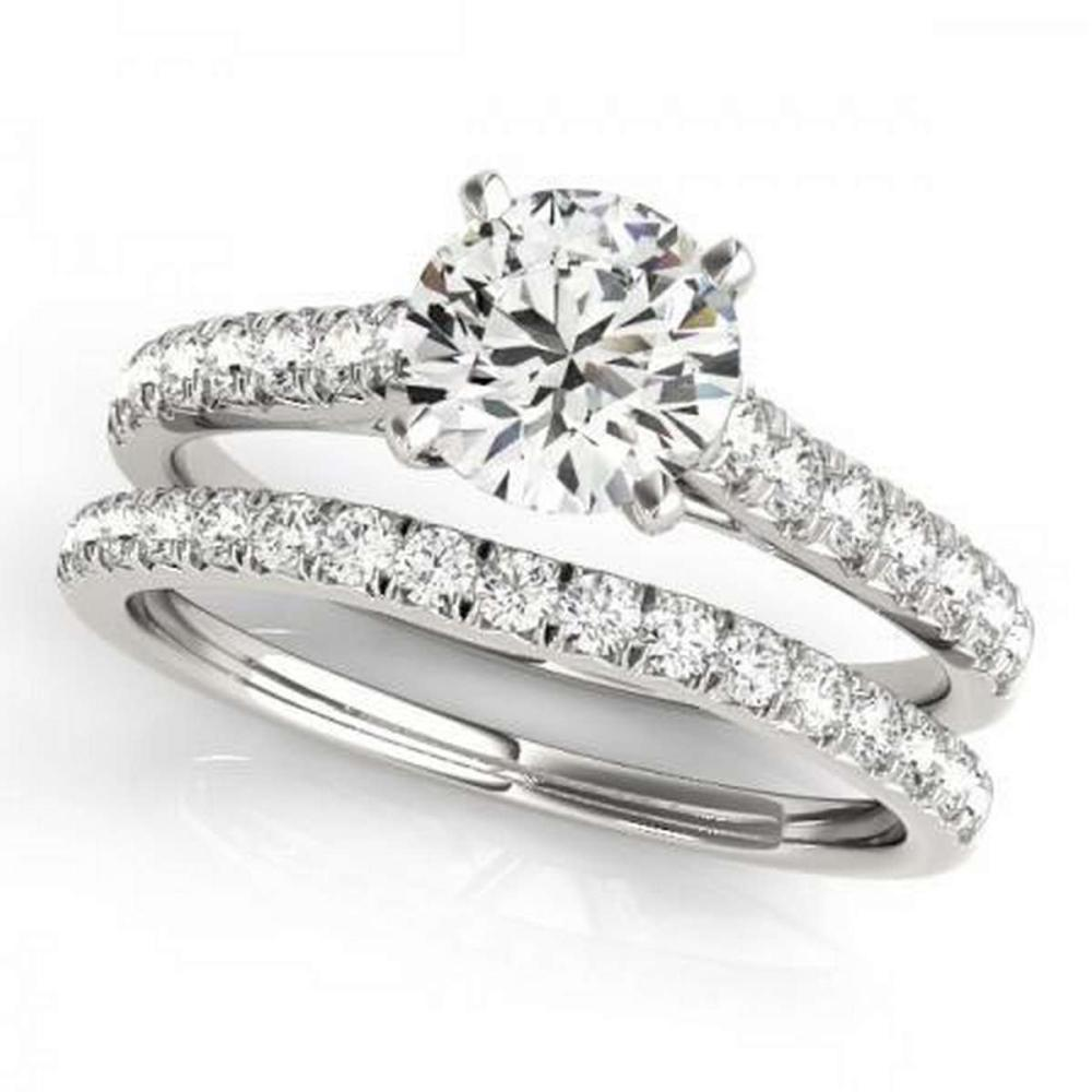 Lot 9114073: CERTIFIED 18KT WHITE GOLD 1.05 CTW G-H/VS-SI1 DIAMOND BRIDAL SET #IRS86751