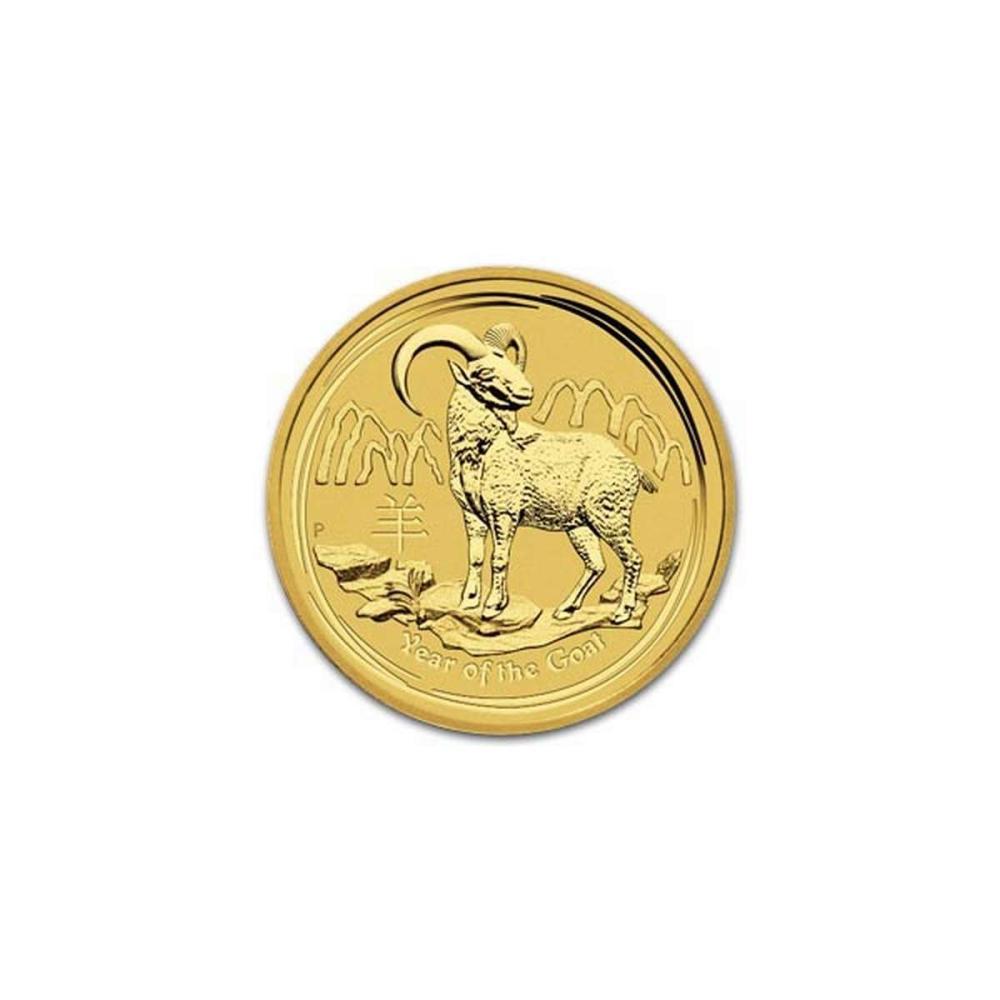 Australian Series II Lunar Gold Tenth Ounce 2015 Goat #IRS95838