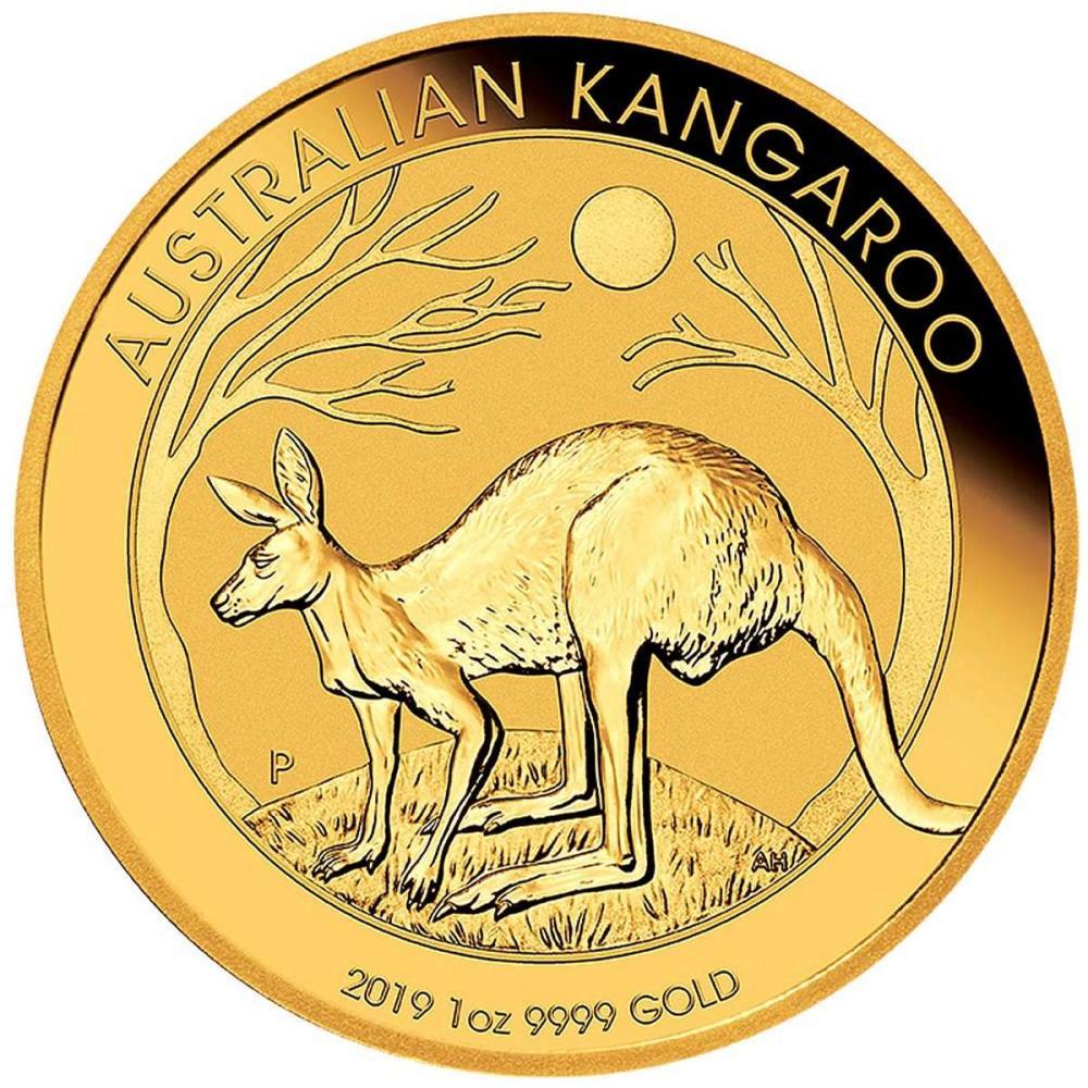 2019 Australia Gold Kangaroo 1 oz #IRS95862