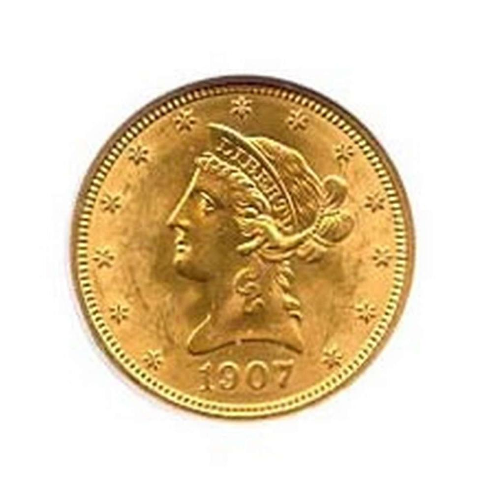 Lot 9114096: Early Gold Bullion $10 Liberty Uncirculated #IRS95039