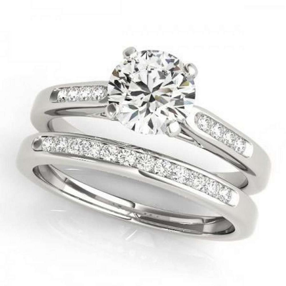 Lot 9114098: CERTIFIED 18KT WHITE GOLD 1.00 CTW G-H/VS-SI1 DIAMOND BRIDAL SET #IRS86763