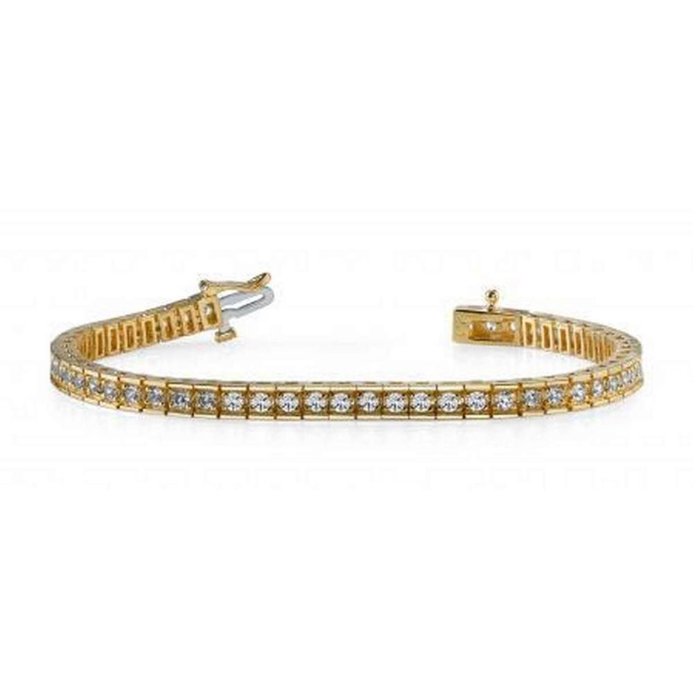 14KT YELLOW GOLD 2 CTW G-H SI2/SI3 BOX LINK DIAMOND TENNIS BRACELET #IRS20241