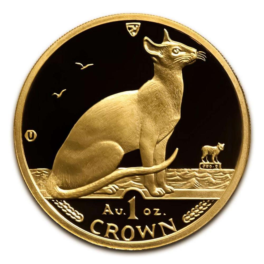 Isle of Man Gold Cat 1 Ounce 1992 #IRS95896