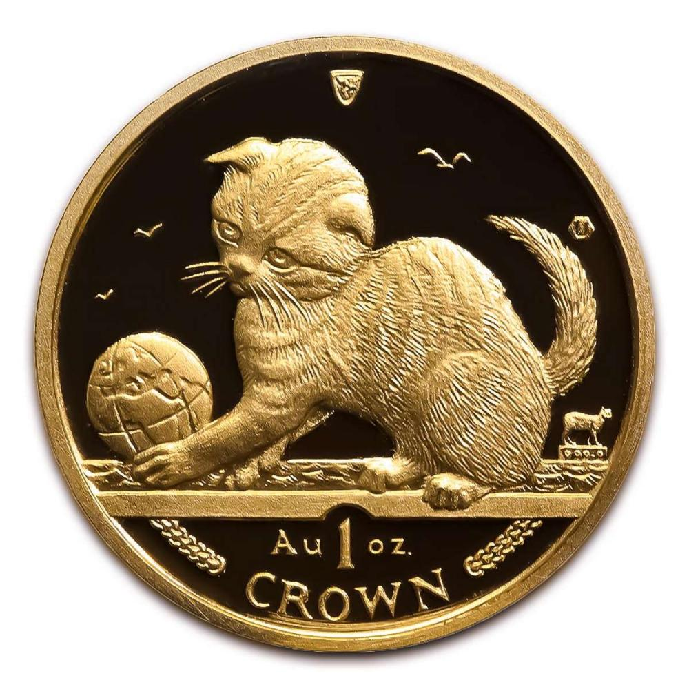 Lot 9114130: Isle of Man Gold Cat 1 Ounce 2000 #IRS95904