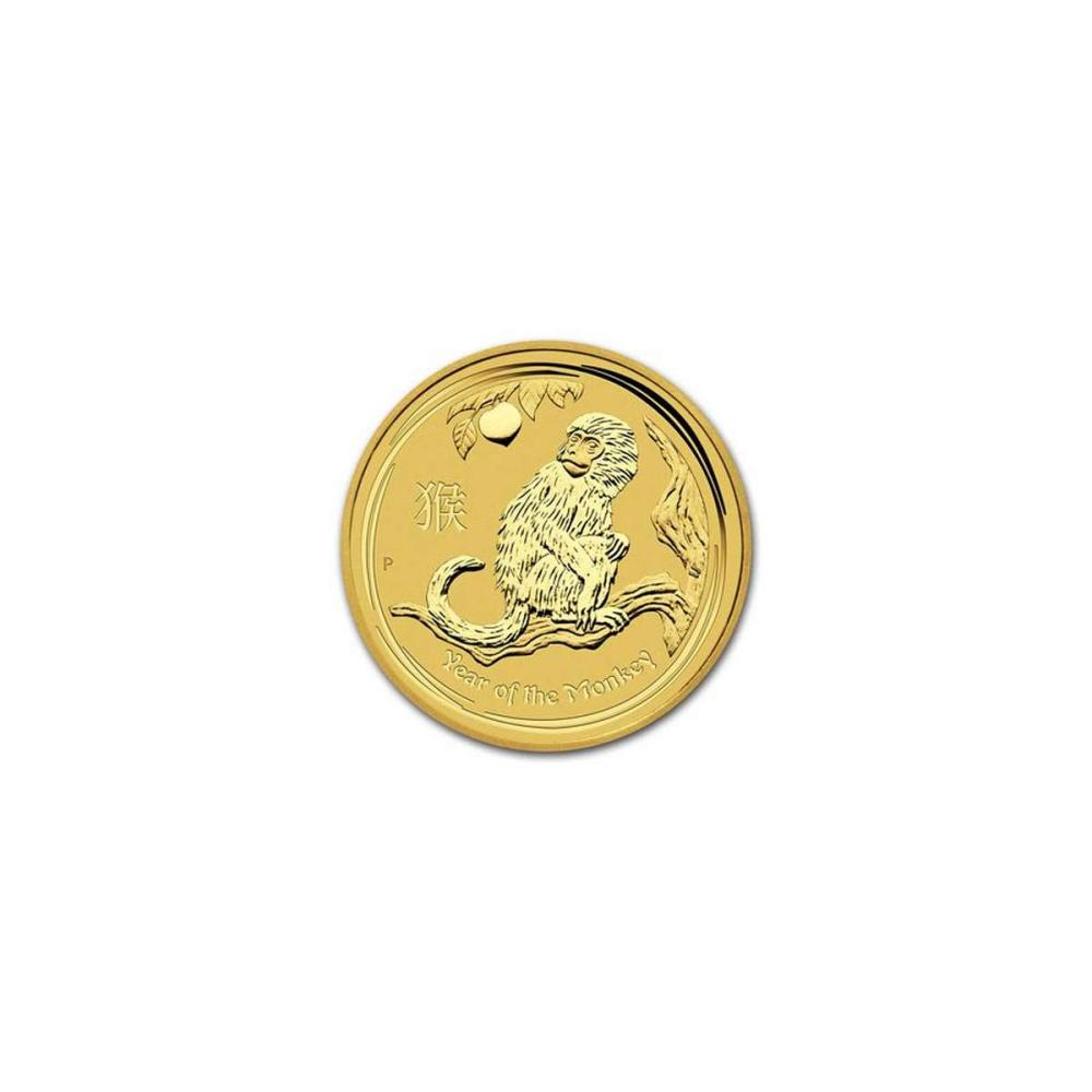 Australian Perth Mint Series II Lunar Gold One-Twentieth Ounce 2016 Monkey #IRS95848