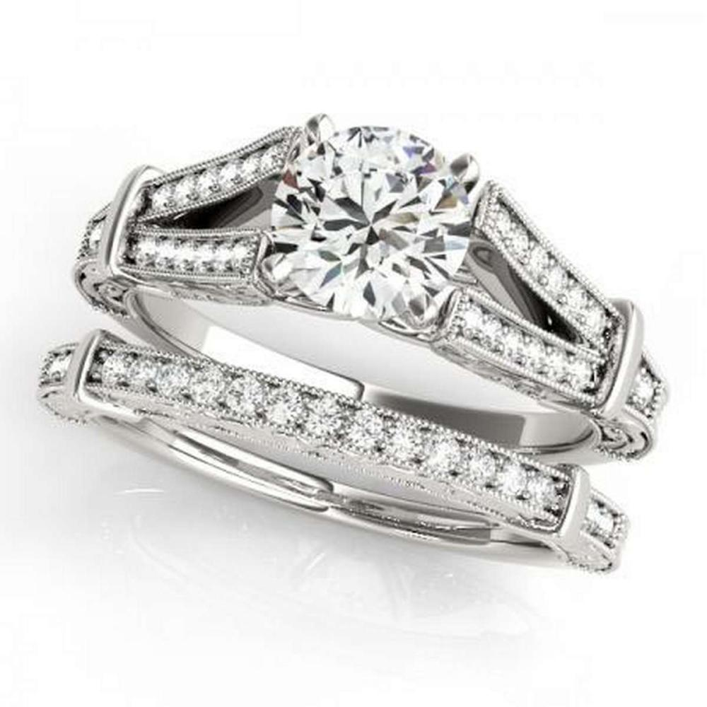 Lot 9114166: CERTIFIED 18KT WHITE GOLD 1.24 CTW G-H/VS-SI1 DIAMOND BRIDAL SET #IRS86761