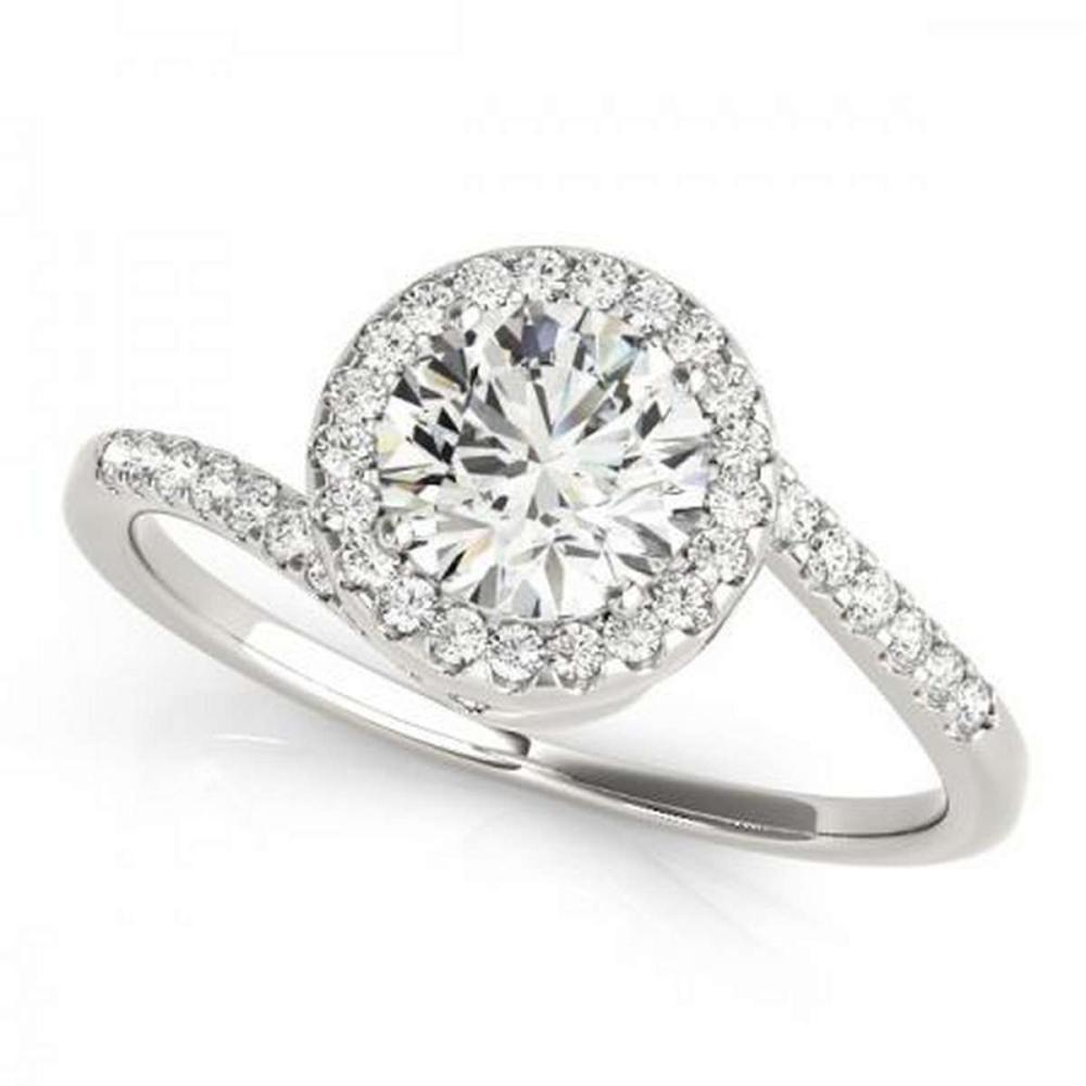 Lot 9114182: CERTIFIED PLATINUM 1.49 CTW G-H/VS-SI1 DIAMOND HALO HALO ENGAGEMENT RING #IRS86205