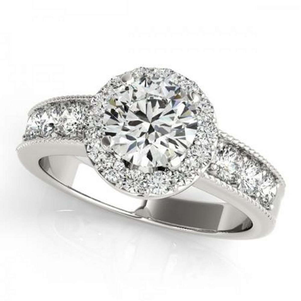 CERTIFIED PLATINUM 1.70 CTW G-H/VS-SI1 DIAMOND HALO ENGAGEMENT RING  #IRS86202