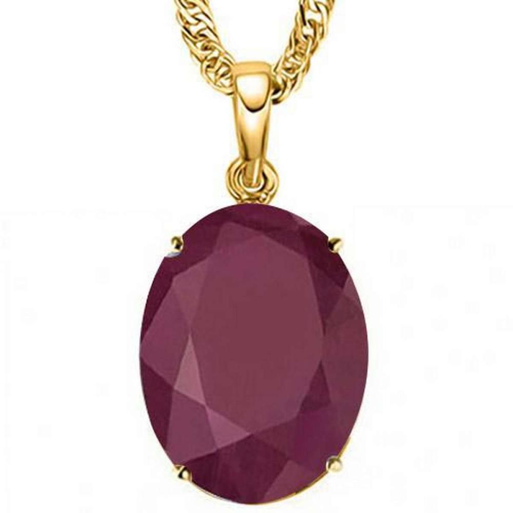 0.95 CTW RUBY 10K SOLID YELLOW GOLD OVAL SHAPE PENDANT #IRS36920