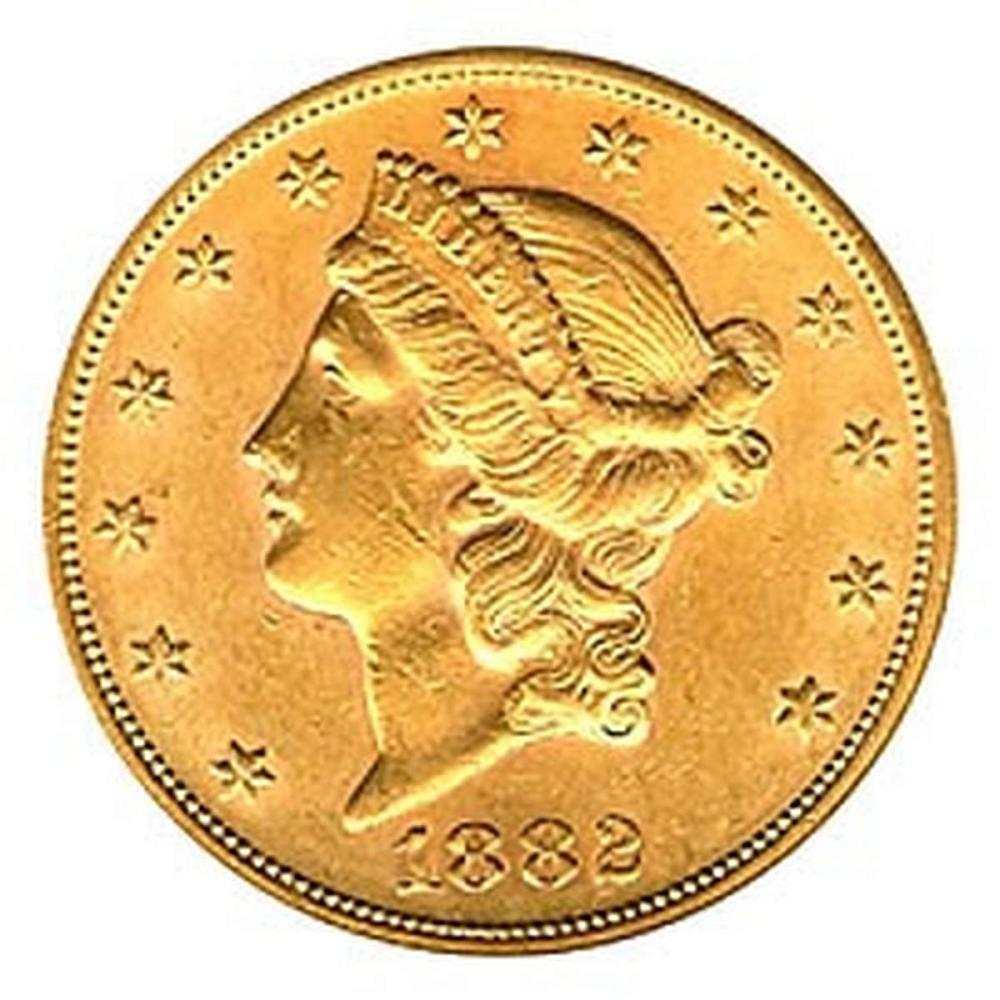 Early Gold Bullion $20 Liberty Almost Uncirculated #IRS95029