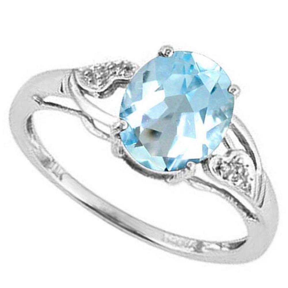 2.38 CTW PERIDOT & DIAMOND 10KT SOLID GOLD RING #IRS50774