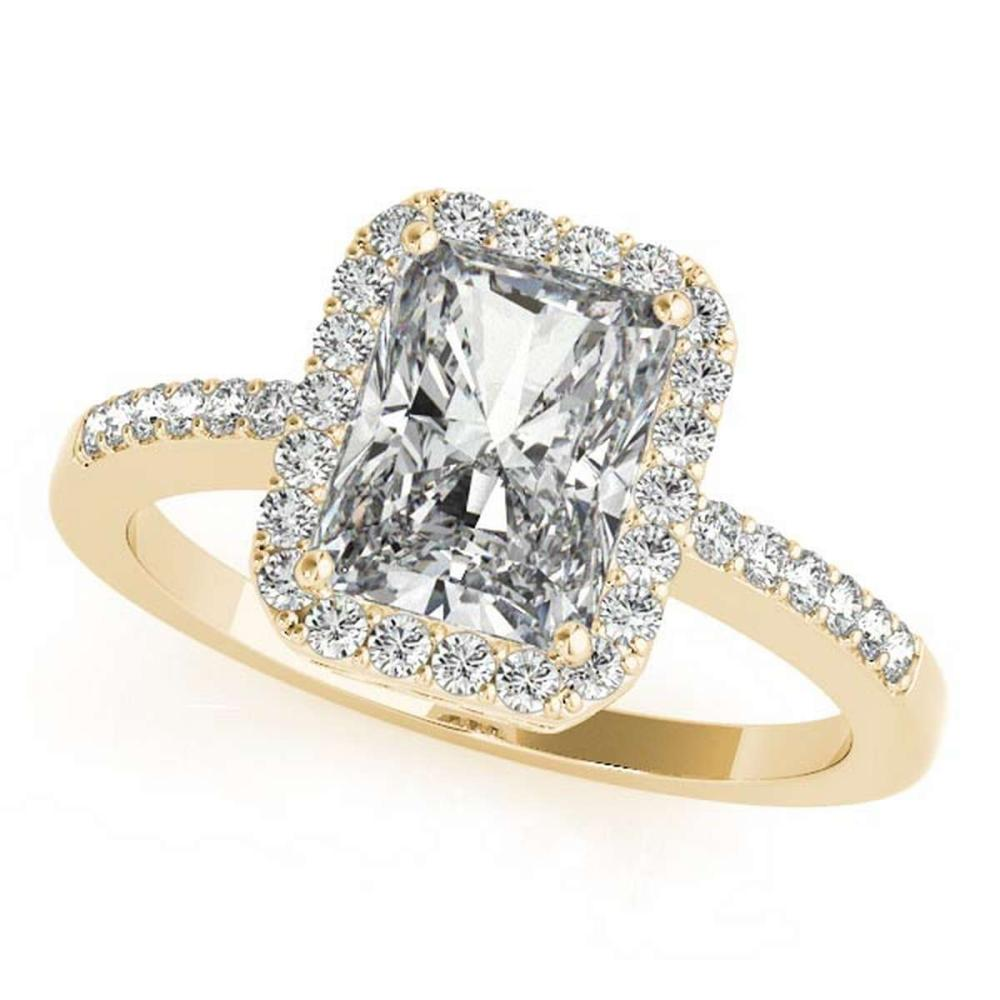 CERTIFIED 18KT WHITE GOLD 1.00 CT G-H/VS-SI1 DIAMOND HALO ENGAGEMENT RING #IRS86482