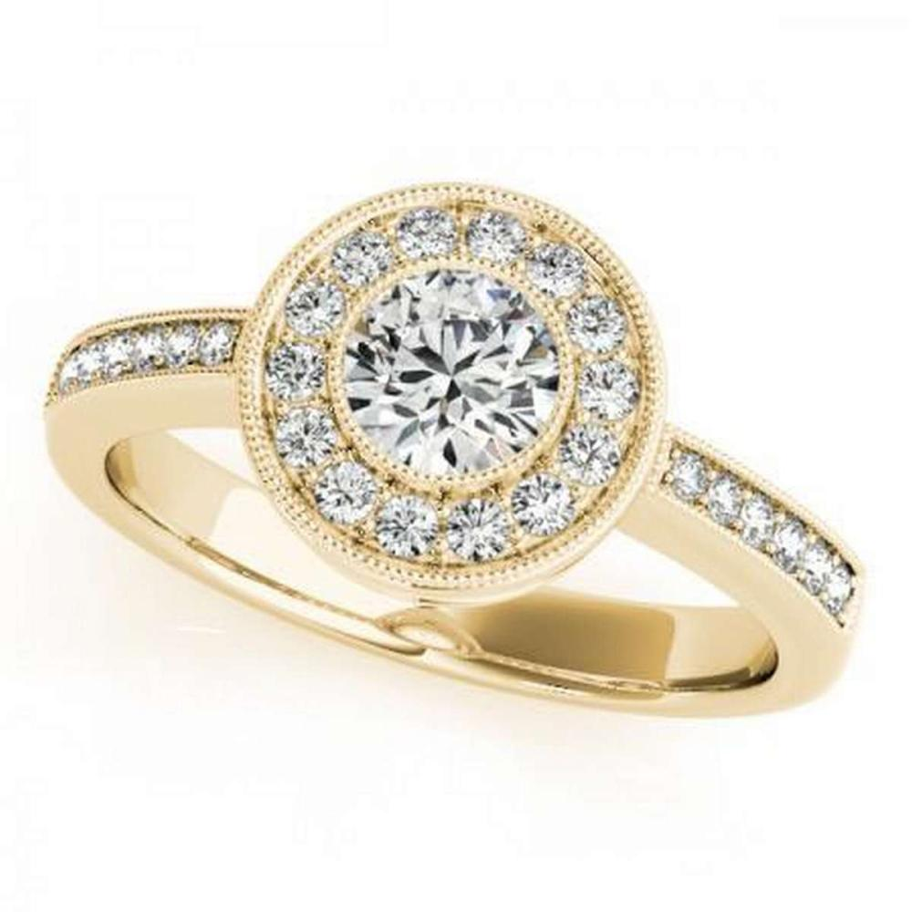 CERTIFIED 18K YELLOW GOLD 2.50 CT G-H/VS-SI1 DIAMOND HALO ENGAGEMENT RING #IRS86431