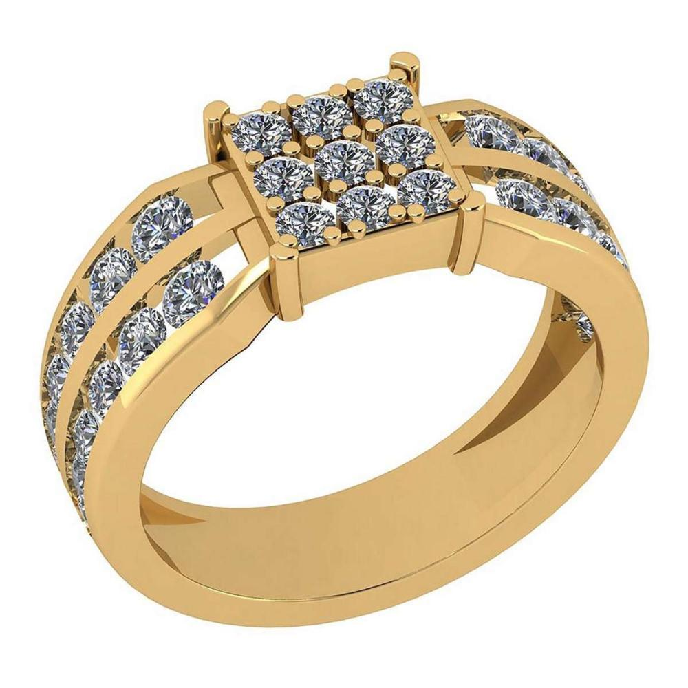 Certified 1.21 Ctw Diamond VS/SI1 Engagement 14K Yellow Gold Ring #IRS25780