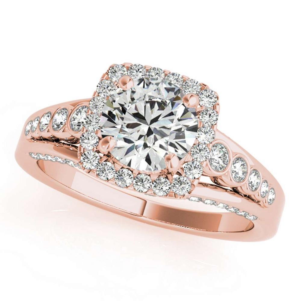 CERTIFIED 18K ROSE GOLD 1.02 CT G-H/VS-SI1 DIAMOND HALO ENGAGEMENT RING #IRS86323