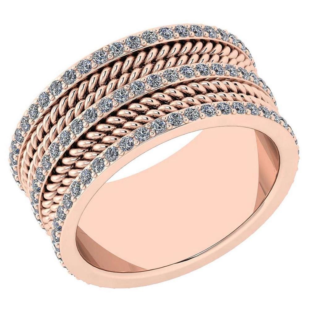 Certified 1.08 Ctw Diamond VS/SI1 18K Rose Gold Made In USA #IRS24357