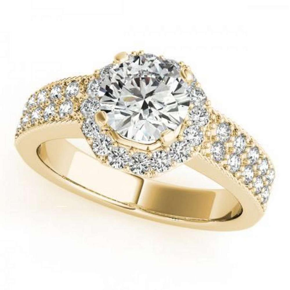 CERTIFIED 18K YELLOW GOLD 1.01 CT G-H/VS-SI1 DIAMOND HALO ENGAGEMENT RING #IRS86414