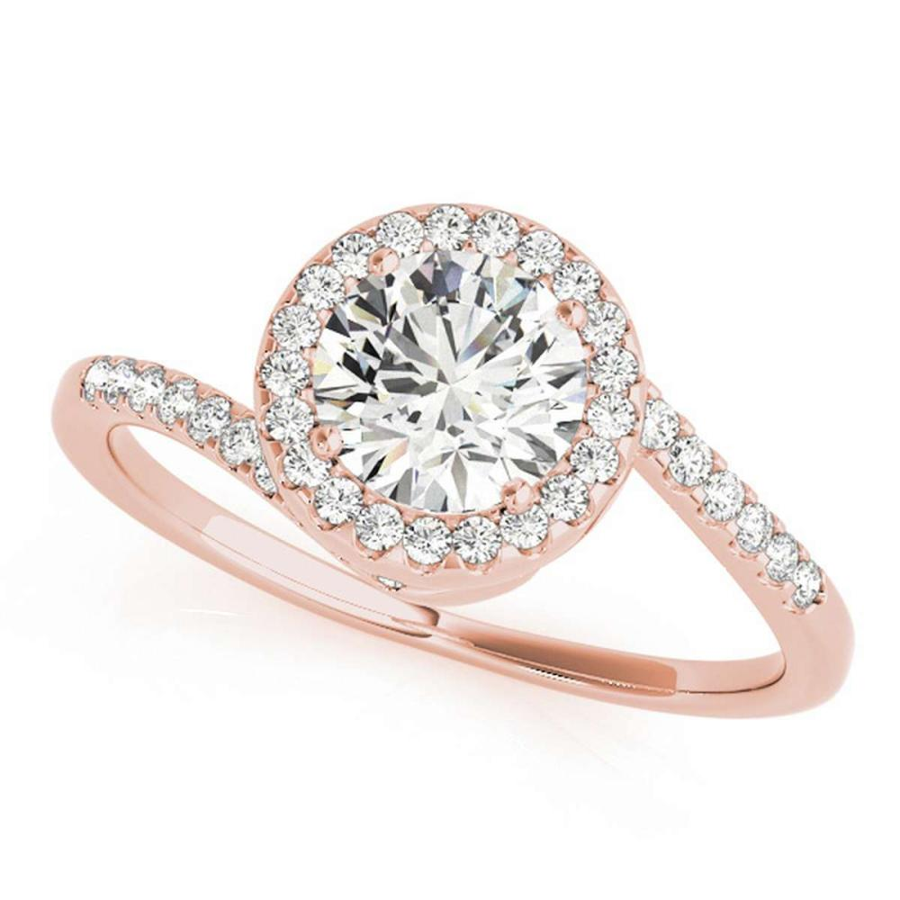 CERTIFIED 18K ROSE GOLD 1.49 CT G-H/VS-SI1 DIAMOND HALO HALO ENGAGEMENT RING #IRS86317