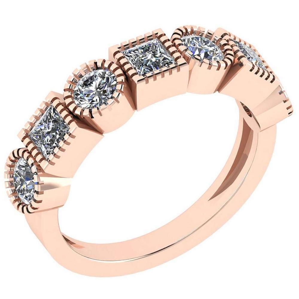 Certified 1.22 Ctw Diamond VS/SI1 Engagement 14K Rose Gold Ring #IRS25767