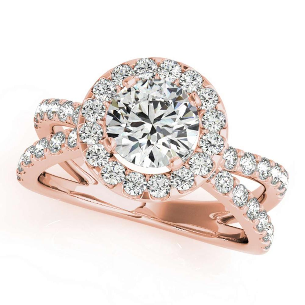 CERTIFIED 18K ROSE GOLD 1.38 CT G-H/VS-SI1 DIAMOND HALO ENGAGEMENT RING #IRS86325