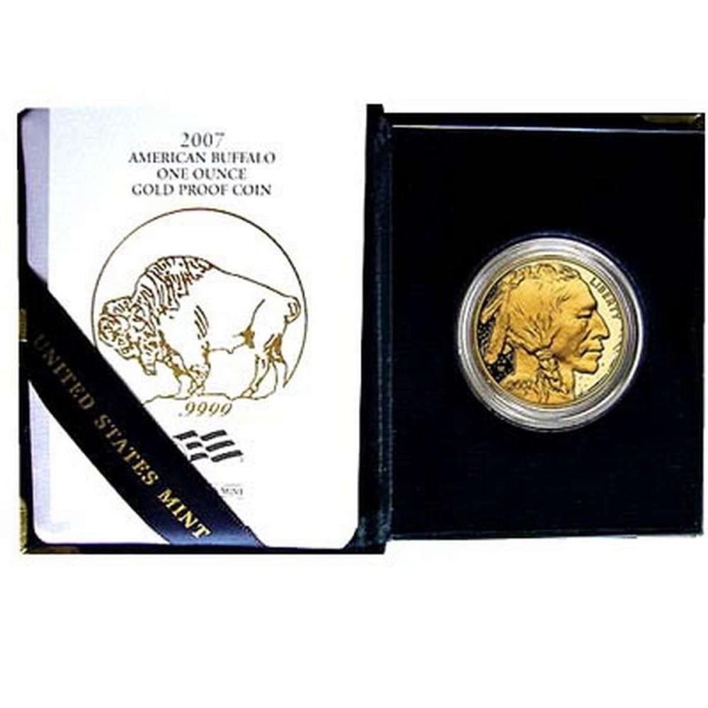 Proof Buffalo Gold Coin One Ounce 2007-W #IRS25894