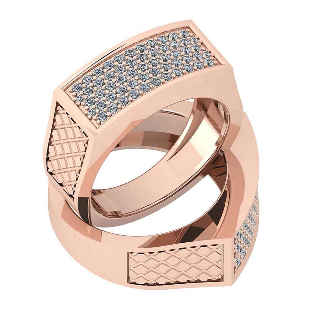 Certified 0.44 Ctw Diamond VS/SI1 Engagement 14K Rose Gold Ring #IRS25782