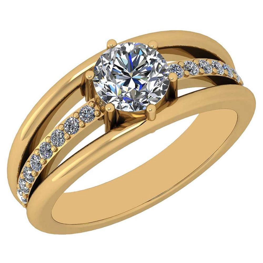 Certified 1.03 Ctw Diamond VS/SI1 14K Yellow Gold Gold Ring #IRS24671