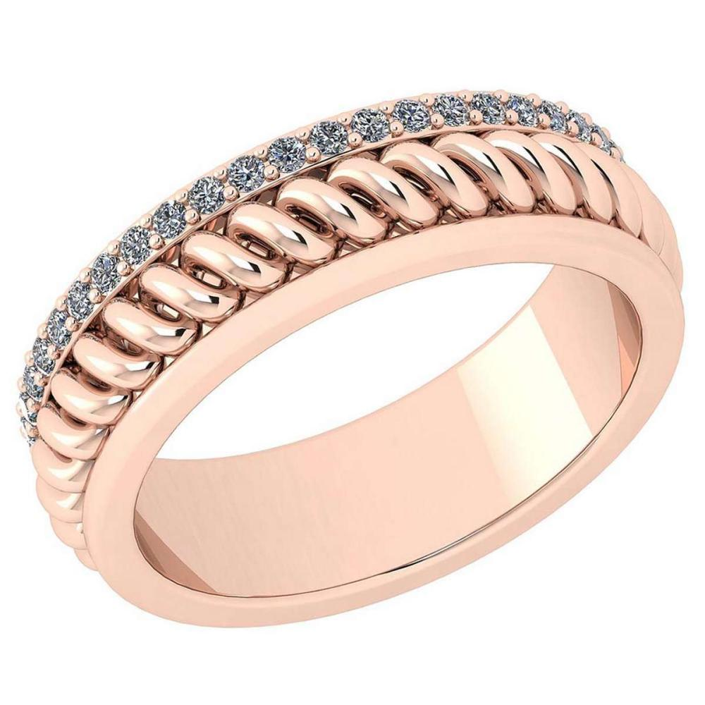 Certified 0.36 ctw Diamond VS/SI1 14K Rose Gold Band Ring #IRS25761
