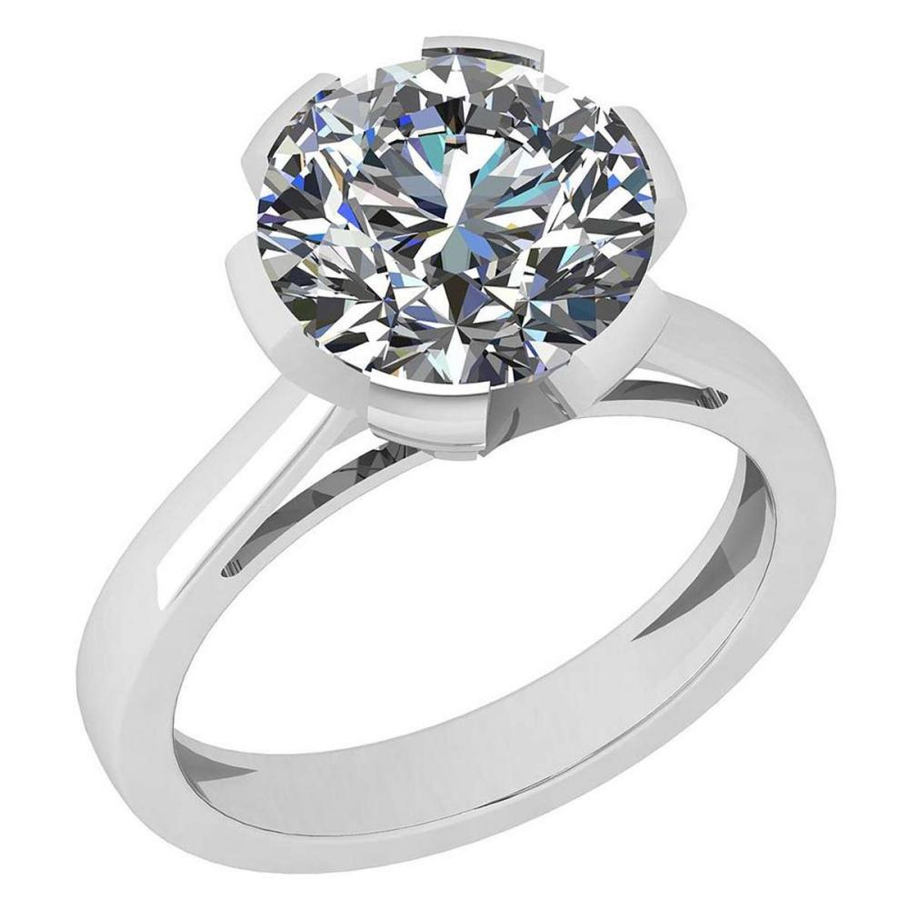 Certified 2.00 Ctw Diamond I1/I2 14K White Gold Solitaire Ring #IRS26349