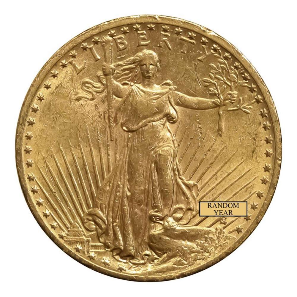 Early Gold Bullion $20 Saint Gaudens Almost Uncirculated #IRS25904