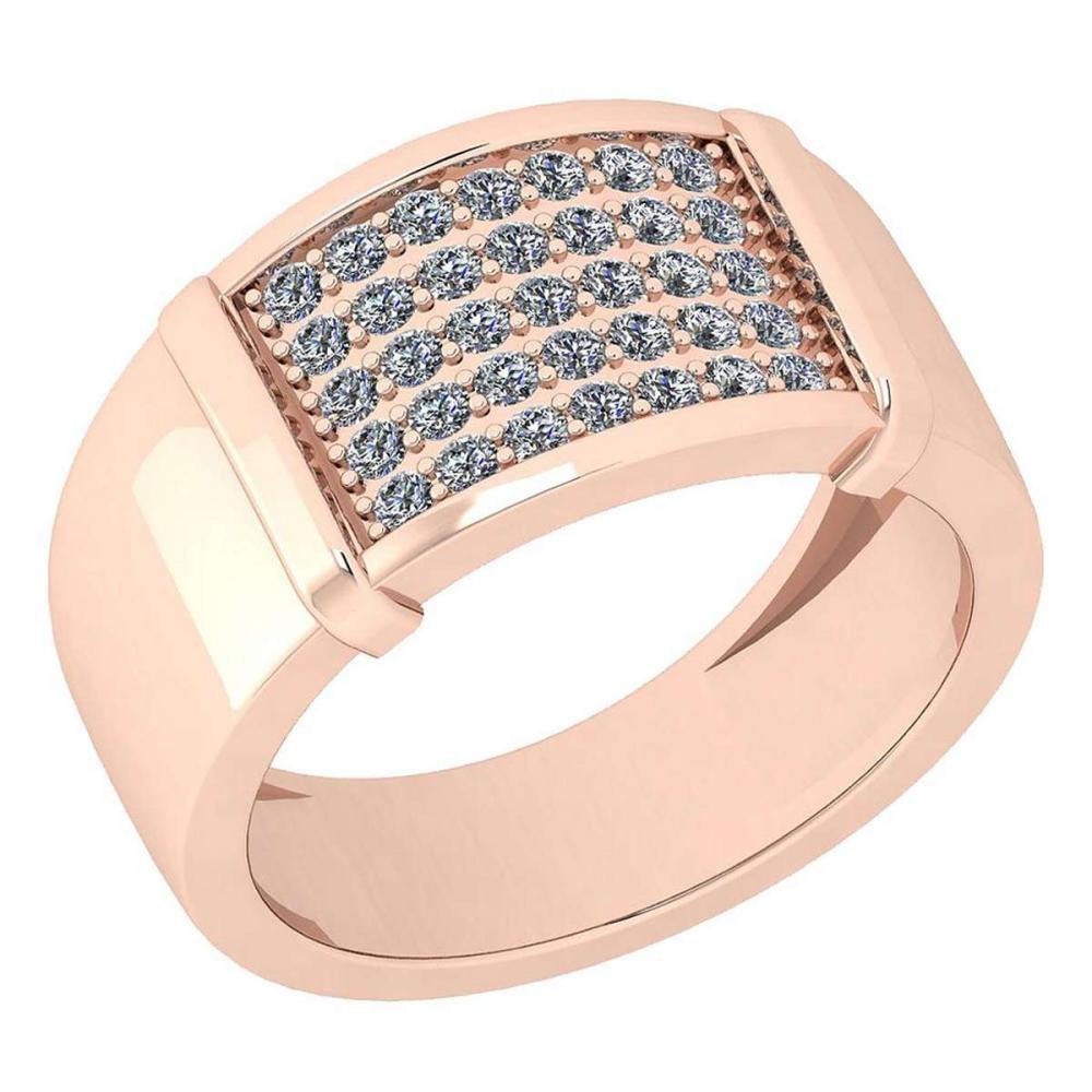 Certified 0.42 Ctw Diamond VS/SI1 Engagement 14K Rose Gold Ring #IRS25773