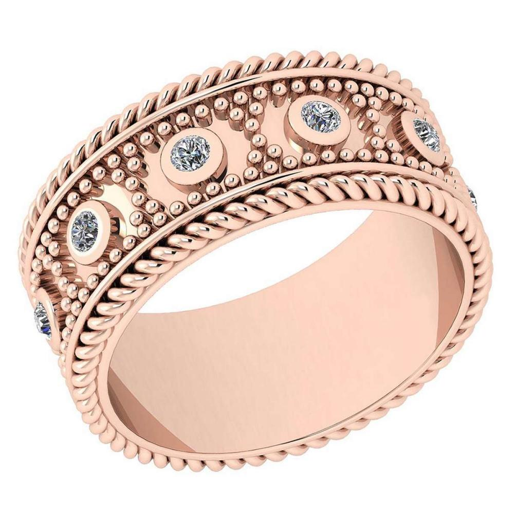 Certified 0.25 Ctw Diamond VS/SI1 18K Rose Gold Band Ring Made In USA #IRS24360
