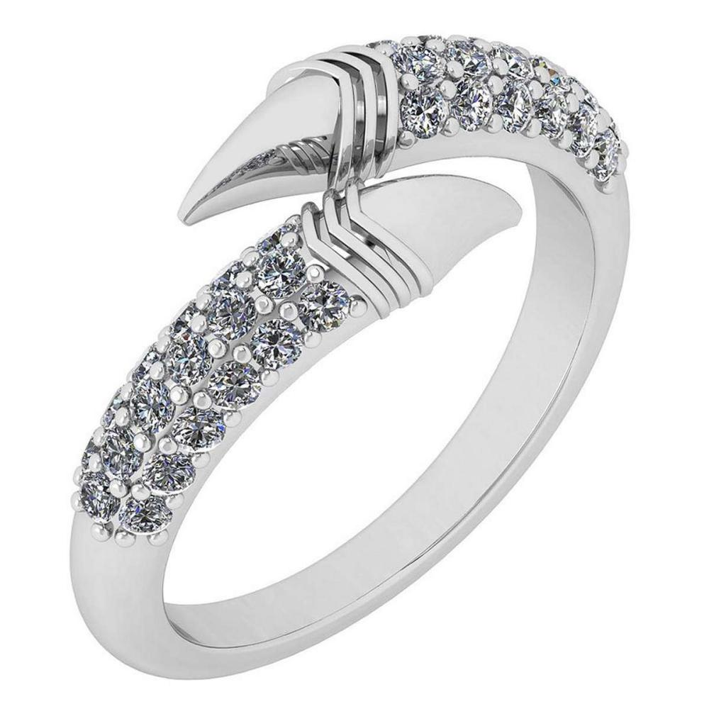 Certified 0.50 Ctw Diamond VS/SI1 Creature Style Platinum Band Ring #IRS26406