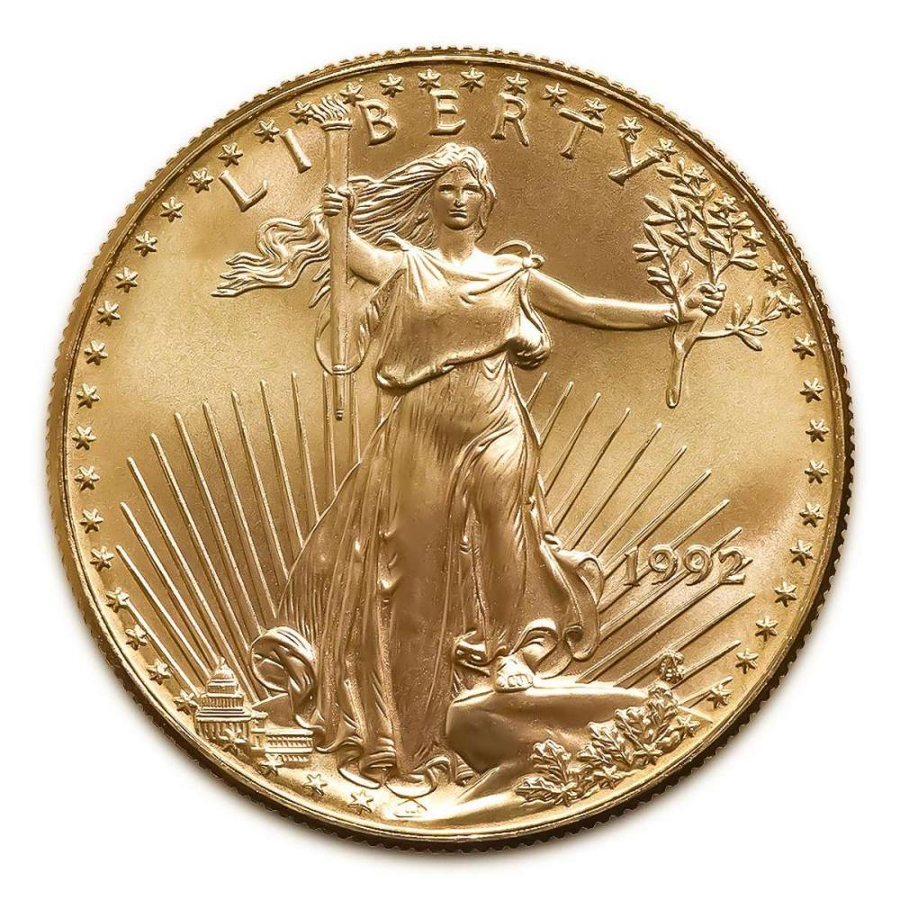 1992 American Gold Eagle 1oz Uncirculated #IRS94935