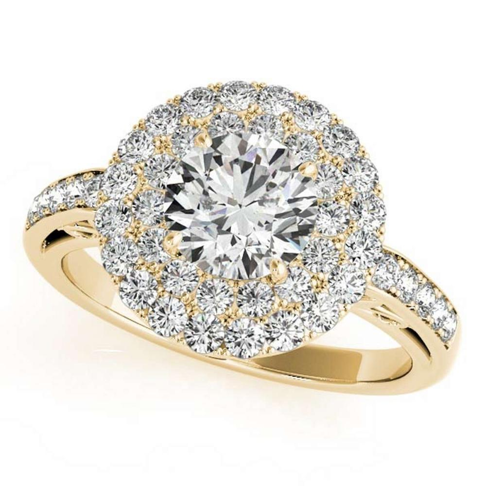 CERTIFIED 18K YELLOW GOLD 1.53 CT G-H/VS-SI1 DIAMOND HALO ENGAGEMENT RING #IRS86425