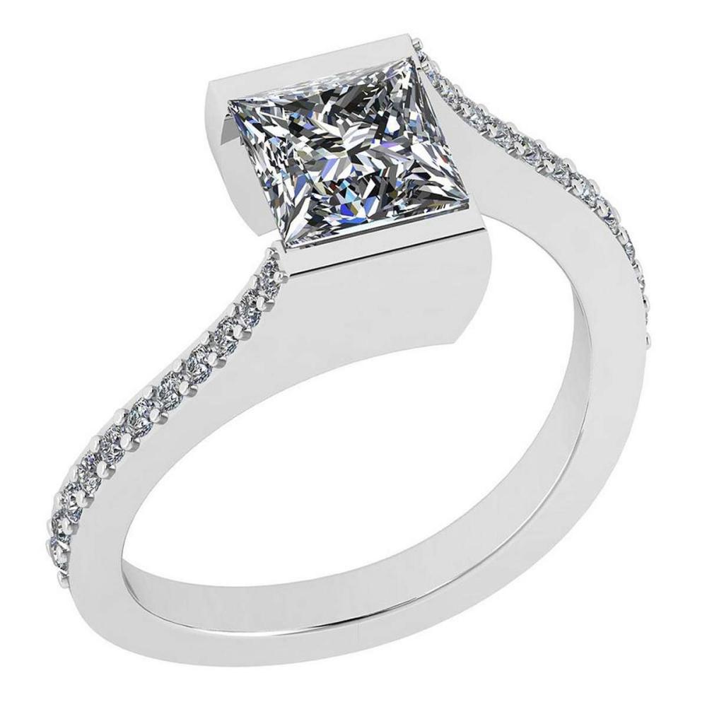 Certified 1.48 Ctw Diamond SI2/I1 Platinum Halo Ring size: 4.5 to 9 free Ring Sizing available #IRS26395