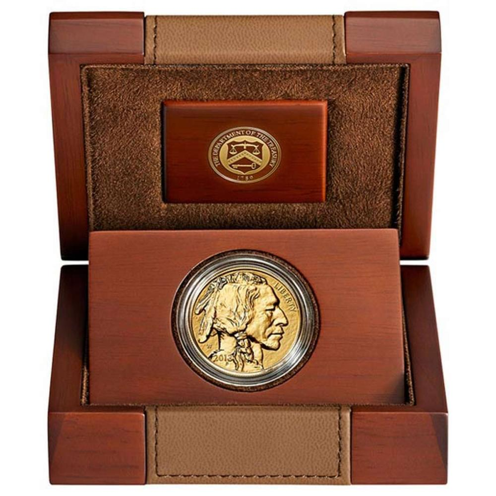 Proof Buffalo Gold Coin One Ounce 2013-W Reverse Proof #IRS25892