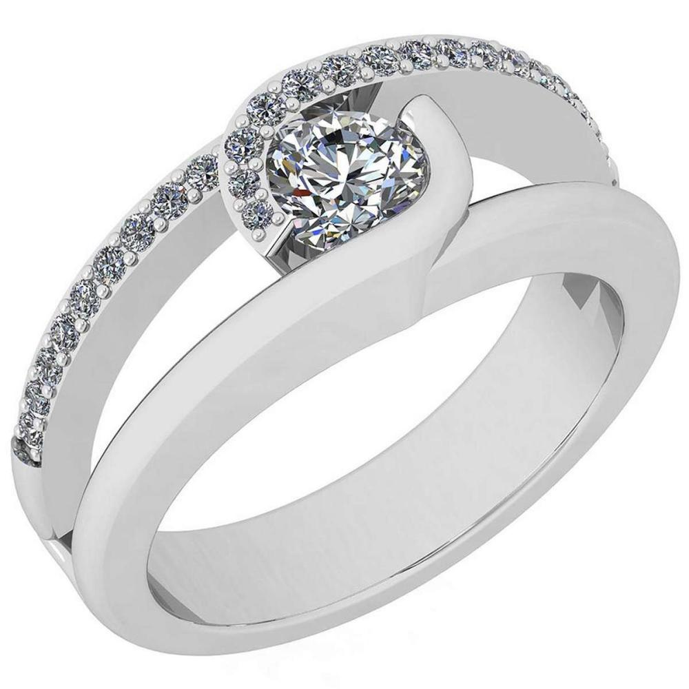 Certified 0.69 Ctw Diamond VS/SI1 Platinum Halo Ring size: 4.5 to 9 free Ring Sizing available #IRS26403