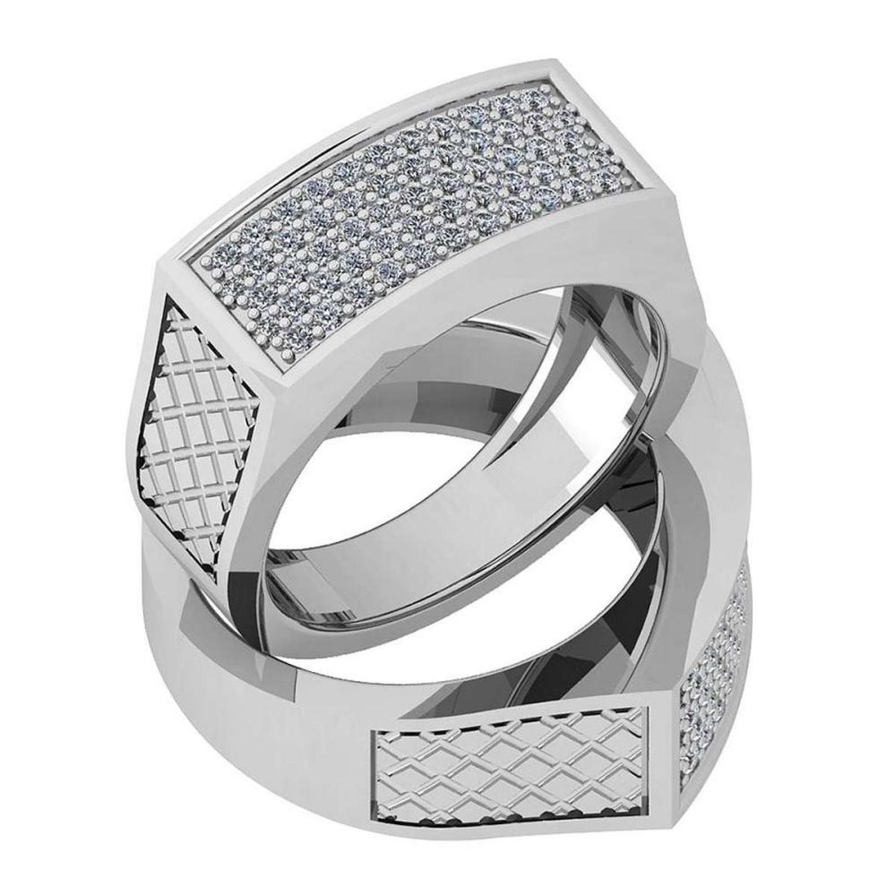 Certified 0.44 Ctw Diamond VS/SI1 Engagement Platinum Ring size: 4.5 to 9 free Ring Sizing available #IRS26390