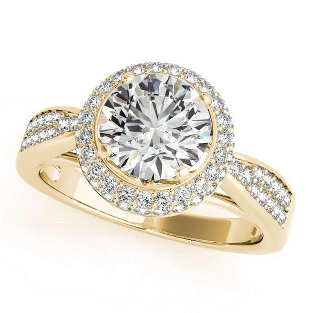 CERTIFIED 18K YELLOW GOLD 0.86 CT G-H/VS-SI1 DIAMOND HALO ENGAGEMENT RING #IRS86412