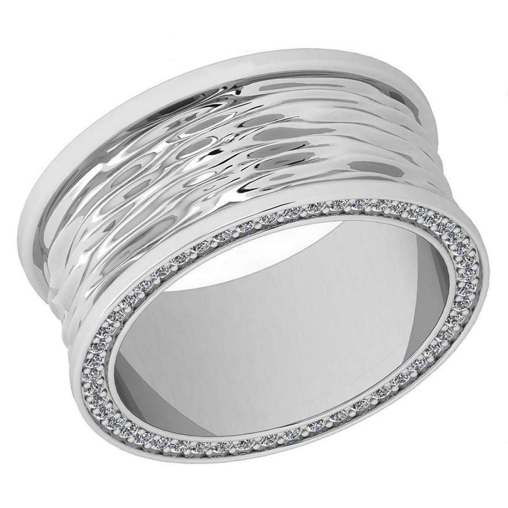 Certified 0.50 Ctw Diamond VS/SI1 18K White Gold Band Ring Made In USA #IRS24386